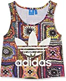 adidas Damen Crochita Crop Tanktop, Multicolor, 40