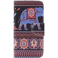 Nancen Galaxy J5 2016 / SM-J510 (5,2 Zoll) Handy Lederhülle, Flip Case Wallet Cover with Stand Function, Folio Bookstyle Handytasche Soft Silikon Bunte Muster Tasche PU Leder Slim Shell Handyhülle.