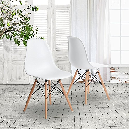 Lot de 2 x Chaise Design intemporel - Blanc
