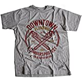 Flamentina A002-046g Downtown Plumbing Herren T-Shirt Daily Service Plumbers Protect Health of Nation Wrench Maintenance(X-Large,Sportsgrey)