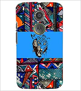 PrintDhaba Abstract Image D-5017 Back Case Cover for MOTOROLA MOTO X2 (Multi-Coloured)