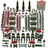 KaliningEU Army Men Spielset, 307 Stück Army Action-Figuren, darunter Spielzeugsoldaten, Sandsäcke, Panzer, Hubschrauber, Beste Army Toys für Jungen, Mädchen und Erwachsene