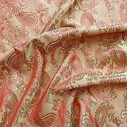 Rot/Rost Paisley Jacquard Polyester Viskose Kleid Futter Stoff 152,4cm 150cm breit-Meterware