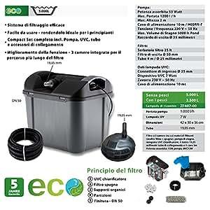 Project filtro gravitational box 7000 kit 6400 g amazon for Filtro x laghetto