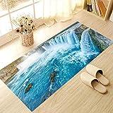 Elobaby Wohnzimmer Küche Rutschfeste Verschleißfesten Boden aufkleber Entfernt Nicht-Stick Kleber Kreative Dekorative Teppich Tapete , A , 60*120cm