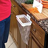 #10: Nevil Hanging Kitchen Cupboard Door Back Style Stand Trash Attach Holder Garbage Bags Storage Rack