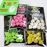 FTD–Min 3Packungen von Korda Pop-Up Corn Carp Wohlschmeckenden Fischködern & Haar Stop Combo–verfügbar in 4Geschmacksrichtungen (, Banoffee, Citrus Zing, I.B. Flavor und Fruity Squid) kommt auch mit 10FTD Hair Rigs ohne Widerhaken 4 packs - 1 of each flavour