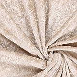 Fabulous Fabrics Pannesamt Sand - Weicher SAMT Stoff zum