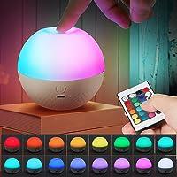 LED Nachtlicht Kinder Akku Opard Nachlicht Dimmbar Wiederaufladbare Nachttischlampe Kinder mit Fernbedienung Farben…