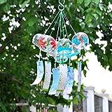Generic Japanisches Glas Windspiel Glocke Hängen Ornament Garten Haus Flur Balkon Fenster Dekoration Geschenk - Schneeflocke