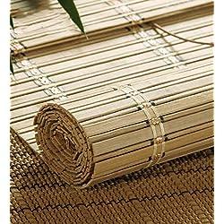 Persiana de Bambú a Medida color marrón claro