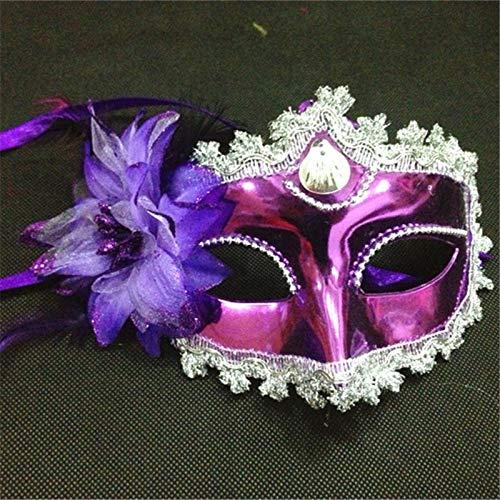 Ball Masquerade Christmas Kostüm - MASKUOY Halloween-Maske Frauen Kostüm Shell Blume Prom Maske Karneval Party Dance Masquerade Ball Halloween Maske Kostüm