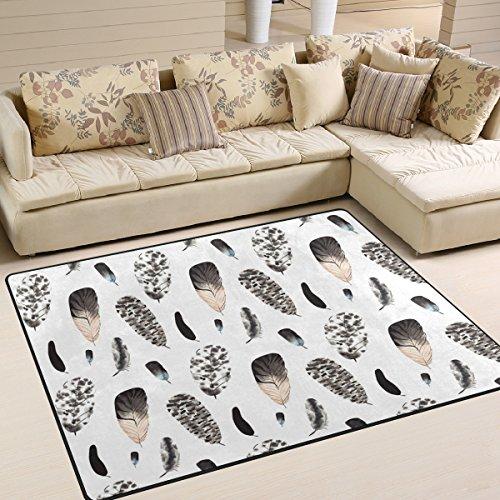 Bereich Teppich, bunt, Zebra Print Teppich Designer Super Soft Polyester Große rutschfeste Modern Bad-Teppiche für Schlafzimmer Wohnzimmer Hall Abendessen Tisch Home Decor 121,9x 160cm, Textil, multi, 58 x 80 inch (Zebra-print-teppiche 8x10)