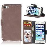 BONROY® Tasche Hülle für Handyhülle für iPhone SE 5S 5