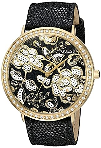 GUESS Women's U0820L1 Trendy Gold-Tone Watch with Gold Dial ,