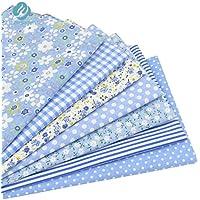 Unory (TM) 7PCS blu tessuto 100% cotone per cucire fai