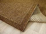 In & Outdoor Teppich Flachgewebe Natur Panama Nuss Bordüre in 4 Größen
