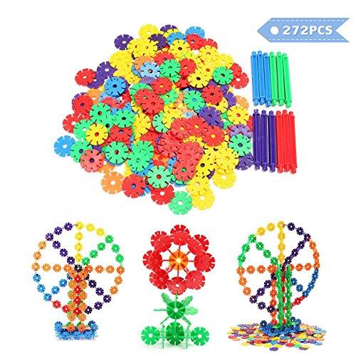 FUNTOK Building Blocks Construction Toys Interlocking Plastic 272PCS Discs Puzzle Game Educational Toys For Kids