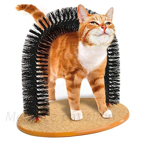 I-Fashion Purrfect Arch Groom Toy Self Grooming Cat Toy Cat Self Groomer and Massager