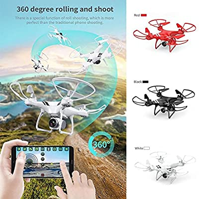 Fenghong Aircraft,20min 5.0MP 2.4GHz 6-Axis Gyro Drone UAV Quadcopter Aircraft High Performance Intelligent Speed Adjustable LED Lighting(Red)