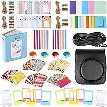 FollowSun 56 en 1 Cámara Accesorios Set para Fujifilm Instax Mini 90 Incluir Caja de la Cámara (Negro), Marcos Diferentes, Libro Album, Filtros de Color, Pegatinas Esquina, Film Pegatinas