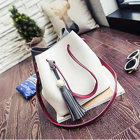 cuciture disegno elaborazione della signora moda creativa borsa secchiello borsa