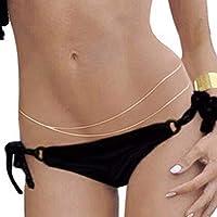 Mayelia Boho Body Chain Gold Bikini Waist Chain Partito Pancia Gioielli Accessori per il corpo Gioielli per donne e…