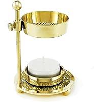 NKlaus Thrifty Incenso bruciatore d'incenso stand ottone fatto a mano oro 2912