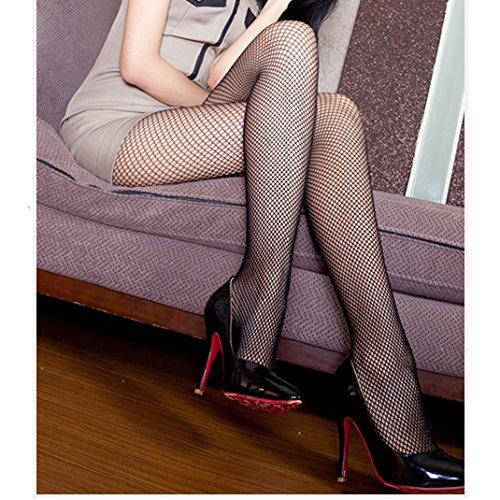 Miya@ super sexy schwarz Punk Fashion Netz Strumphose, Strüpfe Netzhose Leggings, mittel Netz Masche, 32/34/36/38/40/42 Einheitsgröße