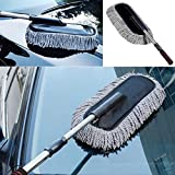 GENERIC Gray : Microfiber Car Duster Cleaning Cloths Car Care Clean Brush Dusting