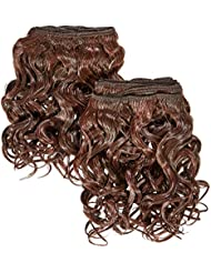 chear espagnol Wave 2en 1trame Extension de cheveux humains avec de mélange tissage Nombre P4/33, M, marron...