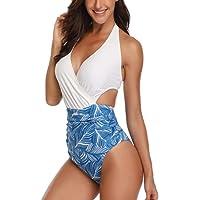 Costumi da Bagno Interi Donna Trikini Costume da Mare Spiaggia Sexy Push up Imbottitura Estraibile Bikini Swimsuit One…