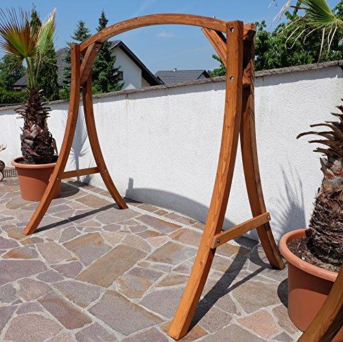 ASS Design Gestell MERU Gestell für Hollywoodschaukel aus Holz Lärche Ohne Sitz von