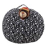 LY-LD Kid es Stuffed Storage Bean Bag Chair mit Extra Long Zipper, Carrying Handle, 100% Sturdy Leinwand-für gefüllte Spielzeuge/Kleidung/Quilts Lagerung,C,26inch