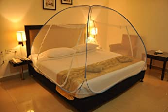 Backbone Foldable Mosquito Net Flexible With 2 Window Zip Door (For Double Bed,King Size Bed, Queen Size Bed)