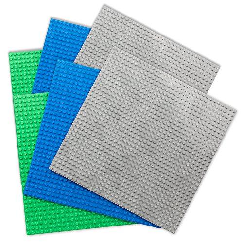 Tumama base per costruzioni compatibili con tutte le principali marche (2pcs green + 2pcs blue + 2pcs grey)
