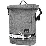 Lifeasy Laptop Rucksack Roll Top Sportrucksack Wasserdicht Reisetasche Diebstahlschutz Arbeit Segeltuch Tasche 15.6 Zoll Tagesrucksack Für Männer & Frauen (Grau)