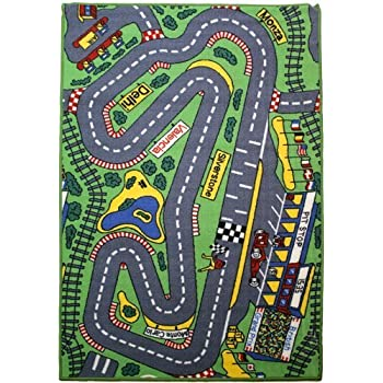 Marvelous Childrenu0027s Matrix Rug   U0027Formula 1 Racetracku0027 Bedroom Road Rug   080x120cms    Machine