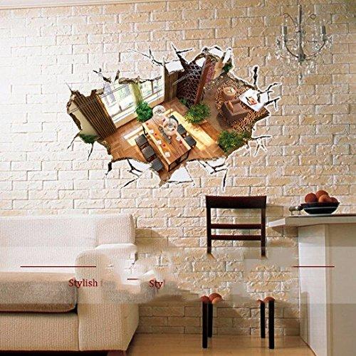 Preisvergleich Produktbild Weihnachts-Dekoration für Halloween 3D-Stick/Aufkleber/Stereo/Deko/poqiang/Heimtextilien/Persönlichkeit/Abnehmbare/Boden/Wand Aufkleber (89 * 58 cm)
