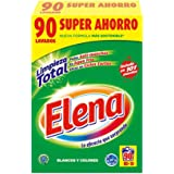 Elena Detergente para lavadora, adecuado para ropa blanca y de color, formato polvo - 90 dosis