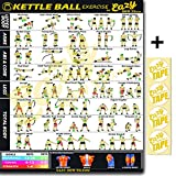 Eazy wie zu Kettlebell/Kettle Ball Workout Poster Big 51 x 73 cm Zug Ausdauer, Ton, Build Stärke & Muscle Home Gym Diagramm