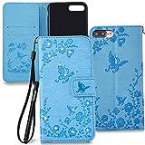 Slynmax Coque iPhone 7 Plus/8 Plus Portefeuille,PU Cuir de Étui Briller Diamant...