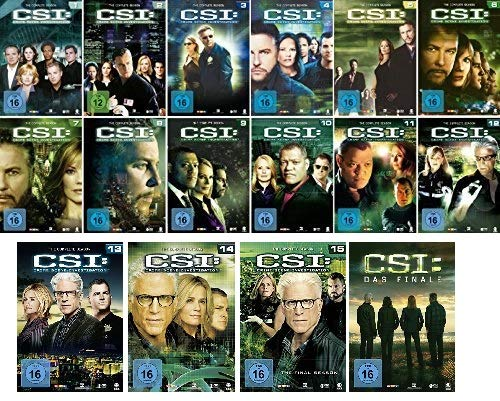Preisvergleich Produktbild CSI: Crime Scene Investigation - Las Vegas - Die komplette Season 1-15 + Finale im Set - Deutsche Originalware [91 DVDs]