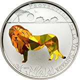 Wildlife Protection - León 1000 Francos CFA Moneda Plata Prisma - Togo 2011