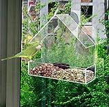 Redwood Mangeoire de fenêtre pour oiseaux En plexiglas