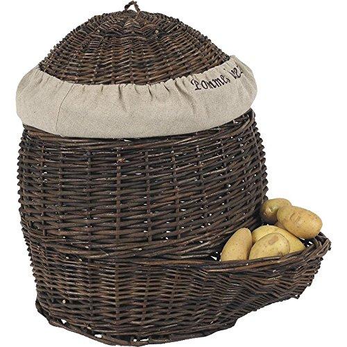 Patatières en osier brut et jute
