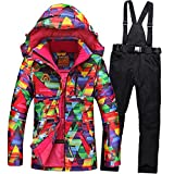 Tongzemeng Outdoor Ski Suit Lovers Warm Thick Waterproof Snow Jackets And Pants