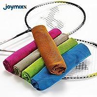 Microfiber toalla fría instantánea, Joymixx deportes fresco toalla, estancia fresca para el gimnasio, entrenamiento, Running, Golf, Yoga, Ciclismo, Viajes, Camping, Senderismo, accesorios de gimnasio, bufanda super absorbente cuello - 100 * 30 CM (Azul)