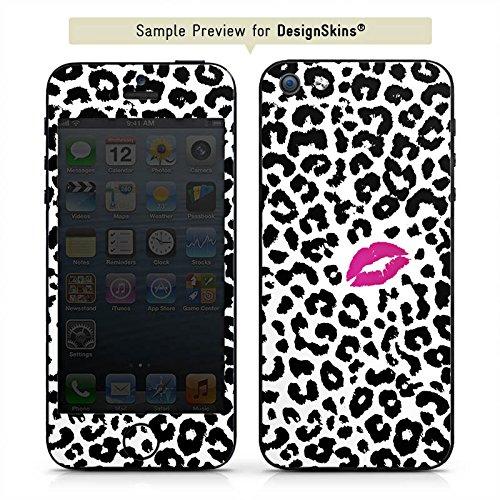 Apple iPhone SE Case Skin Sticker aus Vinyl-Folie Aufkleber Kuss Leo Muster DesignSkins® glänzend