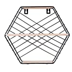 Floating Shelves Wall Mounted Rack, Hexagonal Geometric Iron Grid Wall Shelf, Wall Hanging Figure Wall Decoration Iron Racks